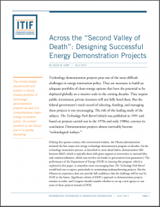 """Across the """"Second Valley of Death"""": Designing Successful Energy Demonstration Projects"""