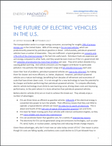 The Future Of Electric Vehicles In The U.S.