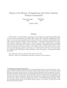 Mirage on the Horizon: Geoengineering and Carbon Taxation Without Commitment