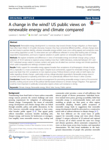 A change in the wind? US public views on renewable energy and climate compared