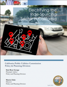 Electrifying the Ride-Sourcing Sector in California
