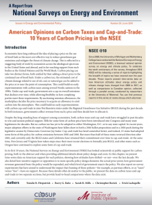 American Opinions on Carbon Taxes and Cap-and-Trade: 10 Years of Carbon Pricing in the NSEE