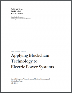Applying Blockchain Technology to Electric Power Systems