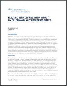 Electric Vehicles and Their Impact on Oil Demand: Why Forecasts Differ