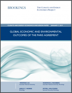 Global economic and environmental outcomes of the Paris Agreement