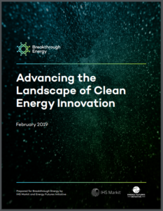 Advancing the Landscape of Clean Energy Innovation
