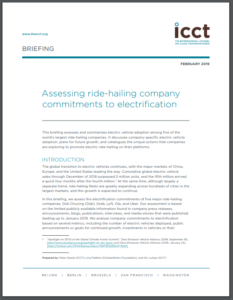 Assessing ride-hailing company commitments to electrification