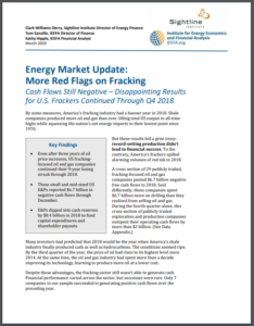 Energy Market Update: More Red Flags on Fracking