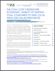 The Coal Cost Crossover: Economic Viability Of Existing Coal Compared To New Local Wind And Solar Resources