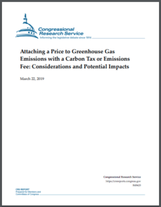 Attaching a Price to Greenhouse Gas Emissions with a Carbon Tax or Emissions Fee: Considerations and Potential Impacts