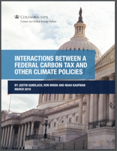 INTERACTIONS BETWEEN A FEDERAL CARBON TAX AND OTHER CLIMATE POLICIES