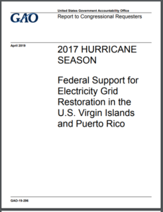 Federal Support for Electricity Grid Restoration in the U.S. Virgin Islands and Puerto Rico