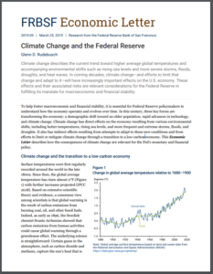 Climate Change and the Federal Reserve