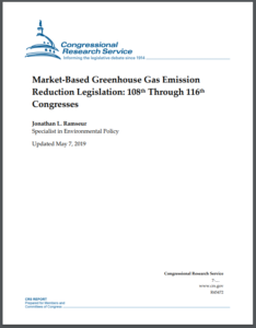 Market-Based Greenhouse Gas Emission Reduction Legislation: 108th Through 116th Congresses