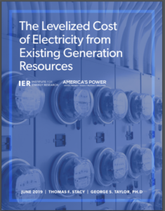 The Levelized Cost of Electricity from Existing Generation Resources