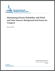 Maintaining Electric Reliability with Wind and Solar Sources: Background and Issues for Congress