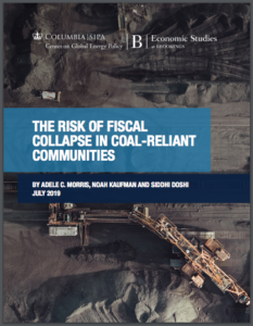The Risk of Fiscal Collapse in Coal-Reliant Communities