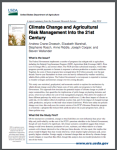 Climate Change and Agricultural Risk Management Into the 21st Century