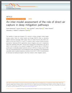 An inter-model assessment of the role of direct air capture in deep mitigation pathways