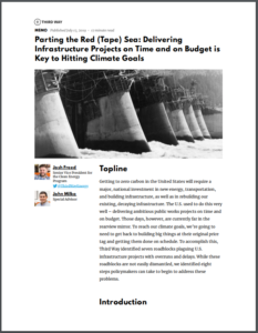 Parting the Red (Tape) Sea: Delivering Infrastructure Projects on Time and on Budget is Key to Hitting Climate Goals