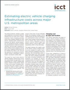 Estimating Electric Vehicle Charging Infrastructure Costs Across Major U.S. Metropolitan Areas