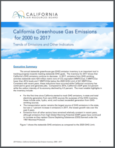 California Greenhouse Gas Emission Inventory – 2019 Edition