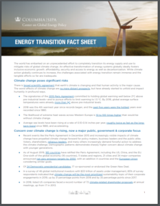 Energy Transition Fact Sheet