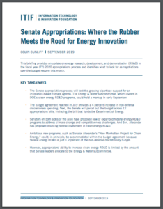 Senate Appropriations: Where the Rubber Meets the Road for Energy Innovation