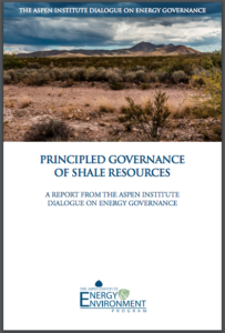 PRINCIPLED GOVERNANCE OF SHALE RESOURCES