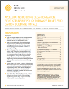 Accelerating Building Decarbonization: Eight Attainable Policy Pathways to Net Zero Carbon Buildings For All