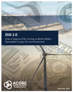 How to Improve ESG Scoring to Better Reflect Renewable Energy Use and Investment