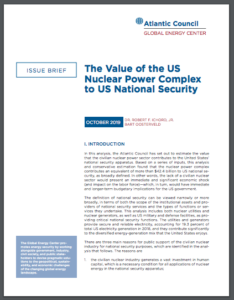 The value of the US nuclear power complex to US national security