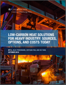 Low-Carbon Heat Solutions for Heavy Industry: Sources, Options, and Costs Today