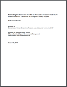 Estimating the Economic Benefits of Productive Investments to Curb Greenhouse Gas Emissions in Arlington County, Virginia