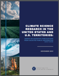 Climate Science Research in the United States and U.S. Territories