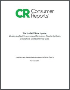 The Un-SAFE Rule Update: Weakening Fuel Economy and Emissions Standards Costs Consumers Money in Every State