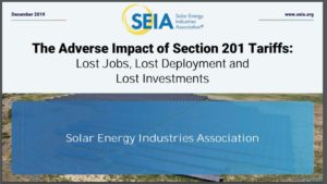 The Adverse Impact of Section 201 Tariffs: Lost Jobs, Lost Deployment and Lost Investments