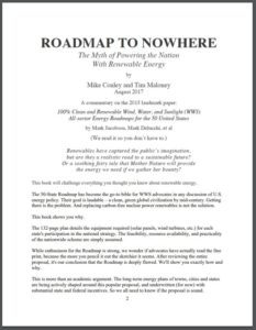 People's Summary of Roadmap to Nowhere: The Myth of Powering the Nation with Renewable Energy