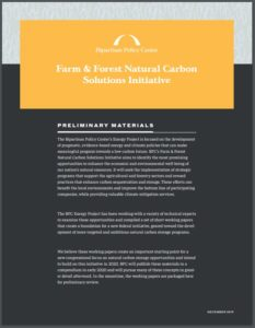 Farm & Forest Natural Carbon Solutions Initiative Working Papers