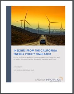 Insights From the California Energy Policy Simulator