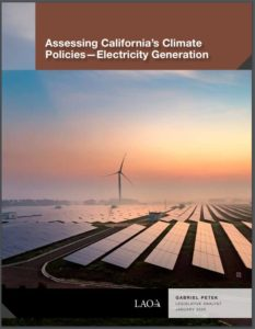 Assessing California's Climate Policies—Electricity Generation