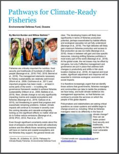 Pathways for Climate-Ready Fisheries