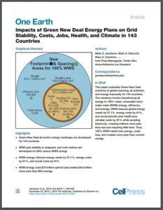 Impacts of Green New Deal Energy Plans on Grid Stability, Costs, Jobs, Health, and Climate in 143 Countries
