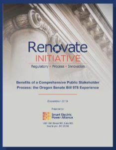 Benefits of a Comprehensive Public Stakeholder Process: the Oregon Senate Bill 978 Experience