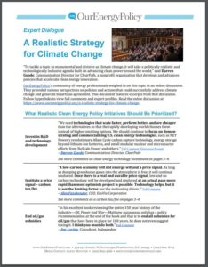 Expert Dialogue: A Realistic Strategy for Climate Change