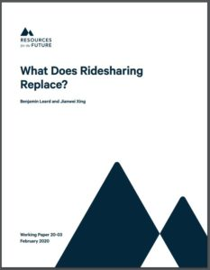 What Does Ridesharing Replace?