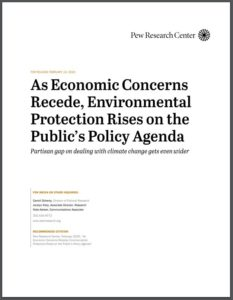 As Economic Concerns Recede, Environmental Protection Rises on the Public's Policy Agenda