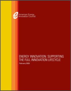 Energy Innovation: Supporting the Full Innovation Lifecycle