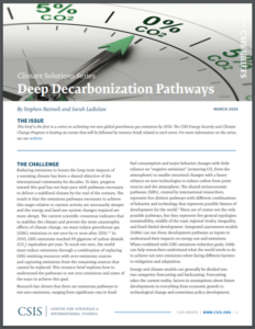 Climate Solutions Series: Deep Decarbonization Pathways