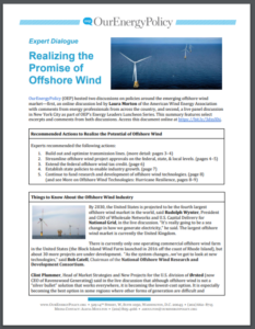 Expert Dialogue: Realizing the Promise of Offshore Wind